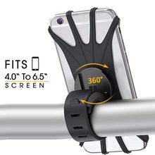 Universal Stoßfest Elastische Silikon Halterung Telefon Halter Stehen Reiten Radfahren Fahrrad MTB Bike Telefon DVR GPS Unterstützung Halterung