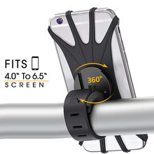 Soporte para teléfono móvil Universal, de silicona elástica a prueba de golpes, para ciclismo en bicicleta, MTB, DVR, GPS