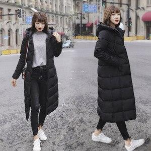 Image 3 - S 6XL autunno inverno Delle Donne Più Il formato del cotone di Modo Imbottiture giacca con cappuccio lungo Parka caldo Giubbotti Femminile cappotto di inverno vestiti
