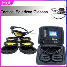 Daisy c5 óculos tático polarizado airsoft paintball tiro militar caminhadas ao ar livre óculos de proteção do exército 4 lente