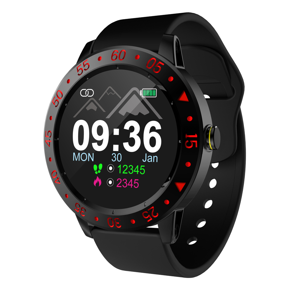 2019 new product SDW01 Full rough screen touch smart watch long standby waterproof Weather Display Pedometer sport smartwatch