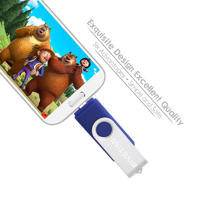 Biyetimi Multifunctional USB Flash Drive otg 2.0 pendrive 64gb cle usb флэш-накопител stick 32gb 16gb 8gb 4g Pen Drive for phone 2