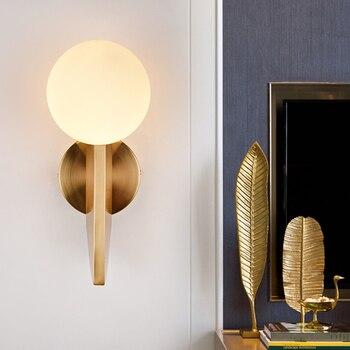 Nordic Postmodern Light Luxury Creative Wall Lamp Ball Living Room Wall Lamp Bedside Bedroom Wall Lamp Study Room Wall Lamp