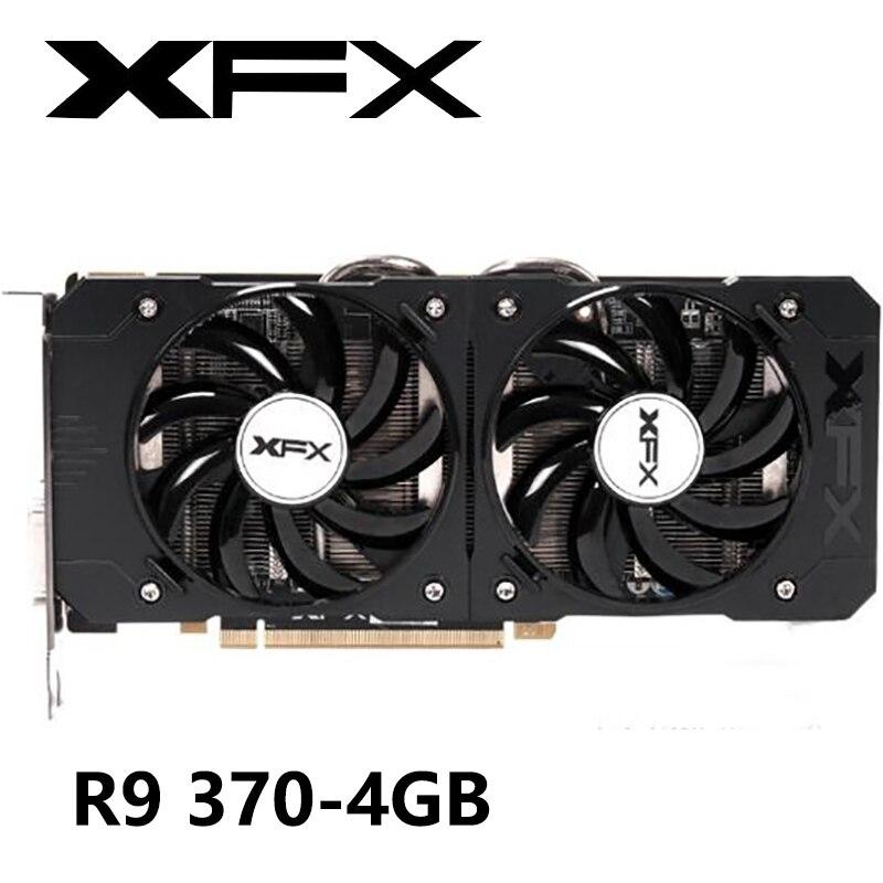 Видеокарта XFX R9 370 4 Гб 370 бит для AMD Radeon R9 370X 4 Гб видеокарты GPU Настольный ПК игровой дисплей видеокарта