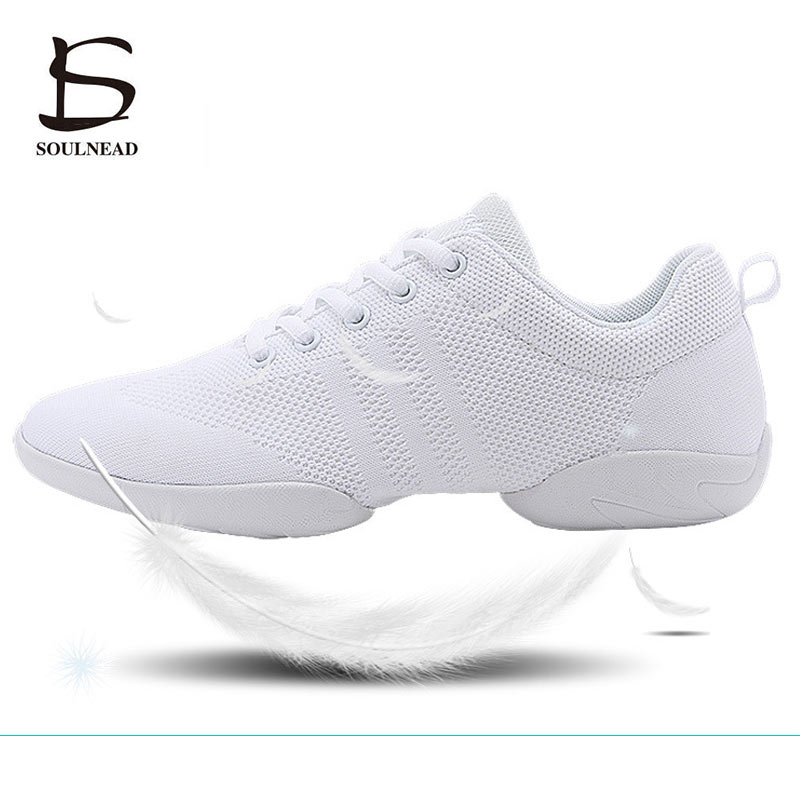 Women's Aerobics Shoes Girls Sneakers Lightweight Mesh Breathable Dancing Shoes For Woman Children's Sports Aerobic Shoes 28 44