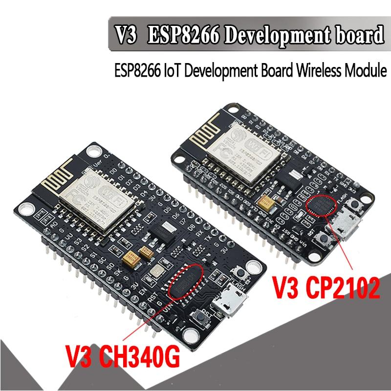 V3 беспроводной модуль NodeMcu 4 м байт Lua wifi Интернет вещей макетная плата на основе ESP8266 ESP-12E для arduino совместимый