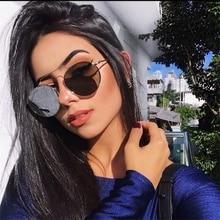 Vintage nuevo marco de metal redondo a la moda nuevo diseño de marca gafas de sol ovaladas de lujo para mujer gafas transparentes gafas para mujer