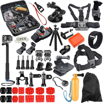 For Gopro Accessories Set for Go Pro Hero 9 8 7 6 5 4 Kit 3 Way Selfie Stick for Eken H8r for Xiaomi for Osmo Action Yi EVA Case