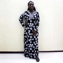 Повседневное платье абайя с вышивкой и аппликацией Dashikiage серого цвета, Женские винтажные Макси платья с длинным рукавом 2019