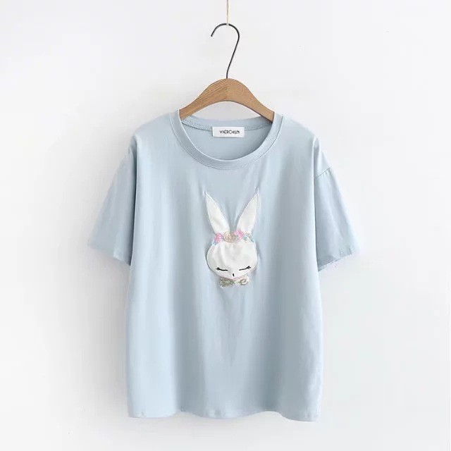 T Shirt Women Printing Cotton Loose Casual Tshirt 2020 Hot Short O-neck Sleeves Shirt Plus Size
