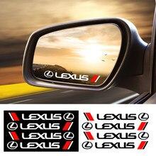 4 pçs estilo do carro maçaneta da porta adesivos decoração adesivos decalque para lexus es300 rx330 rx300 gs300 is250 is200 ct200h gx470 n