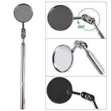1pc 30 mm carro telescópica lente de detecção inspeção espelho redondo 360 graus rotação reparação ferramenta retrátil 17 a 49 cm l1