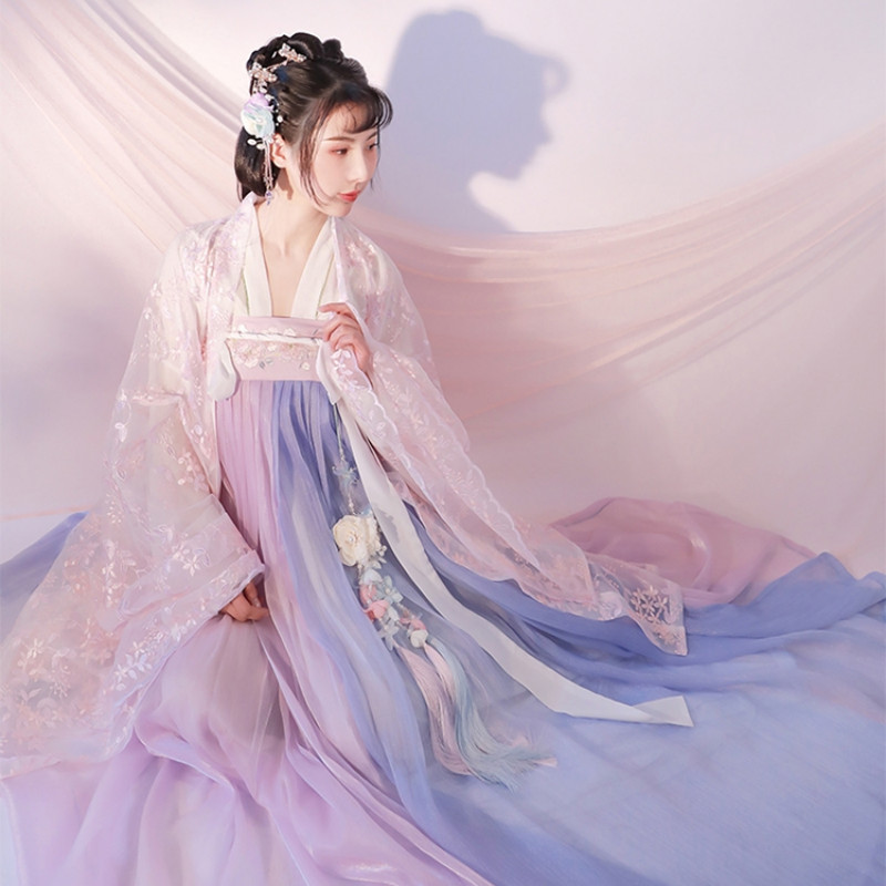 Female Traditional Folk Elegant Ancient Hanfu Costume Tang Dynasty Princess National Dance Clothes Tang Suit Oriental Dress