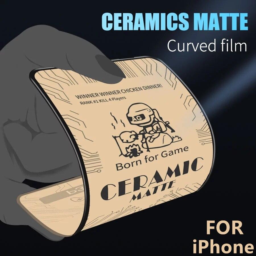 2/1PC pellicola ceramica morbida satinata per IPhone 12 Pro MAX proteggi schermo per IPhone 11 Pro MAX 12 Mini X XR XS 7 8 Plus No Glass
