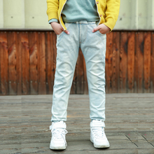 DIIMUU Fashion Boys Denim Pants White Casual Jeans Long Trousers Children Clothing Pencil Pants Kids Clothes For 5-10 Years basik kids denim pants kids clothes children clothing