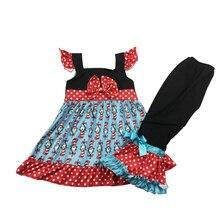Odzież dla dzieci dziewczynka ubrania wzburzyć spodnie ustawia dzieci czerwone kwiaty desgin