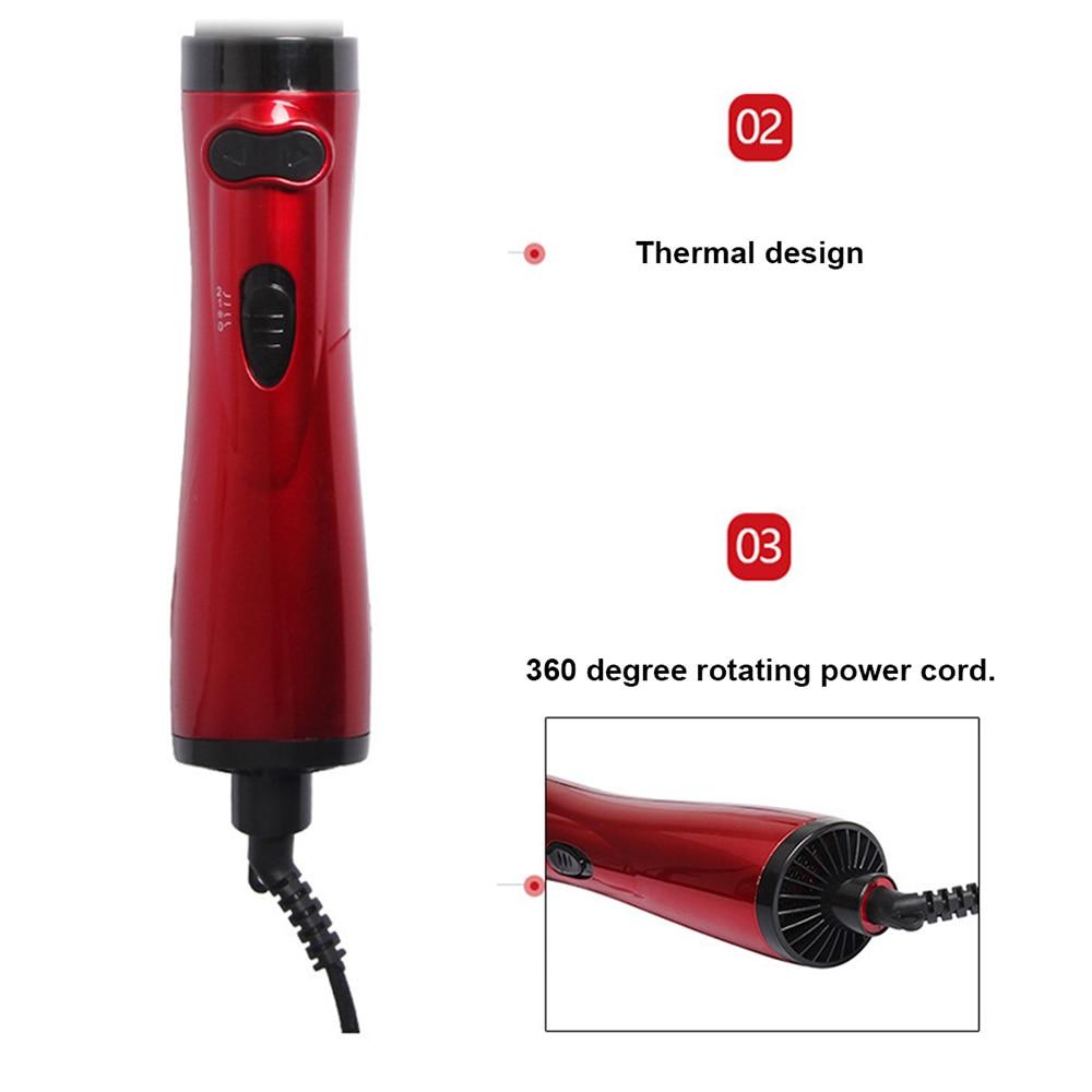 alisador de cabelo curler escova de ar quente