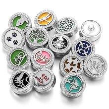 Ароматерапия 18 мм кнопки духи медальон Магнитный из нержавеющей стали эфирные масла диффузор оснастки кнопка браслет ювелирные изделия
