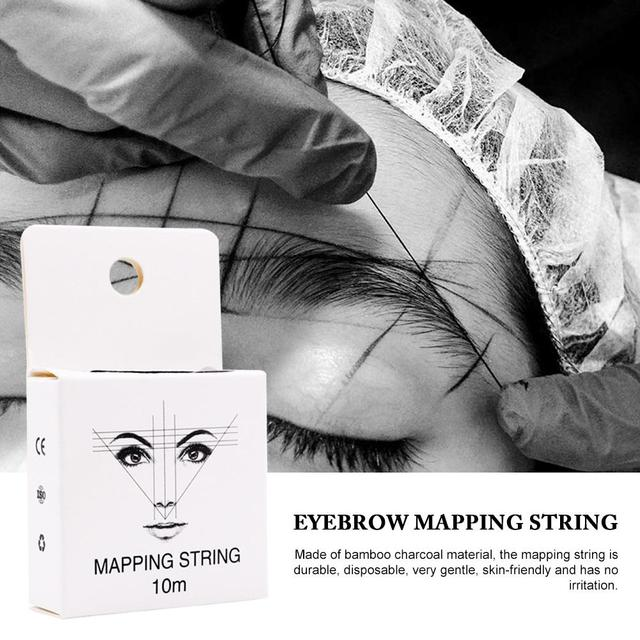 Mapping String Pre-ink String For Microblading Eyebow Make Up Dyeing Liners Thread Semi Permanent Positioning Eyebrow 5