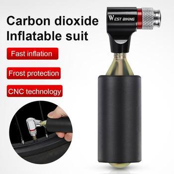 CO2 Pump For Bicycle Schrader Presta Adapter Bike Inflator Aluminum Tire Tube Mini Hand NO Cartridge