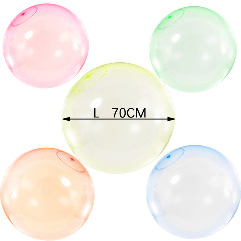 Baby Outdoor Bubble Balls Soft Squishys Air Water Filled Balloons Blow Up For Children Summer Outdoor Games Bath Balloon Toys