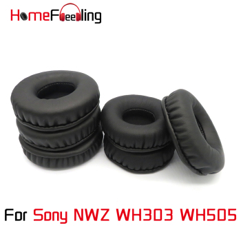 Homefeeling Ear Pads For Sony NWZ WH303 WH505 Earpads Round Universal Leahter Repalcement Parts Ear Cushions плеер sony nwz b183f розовый