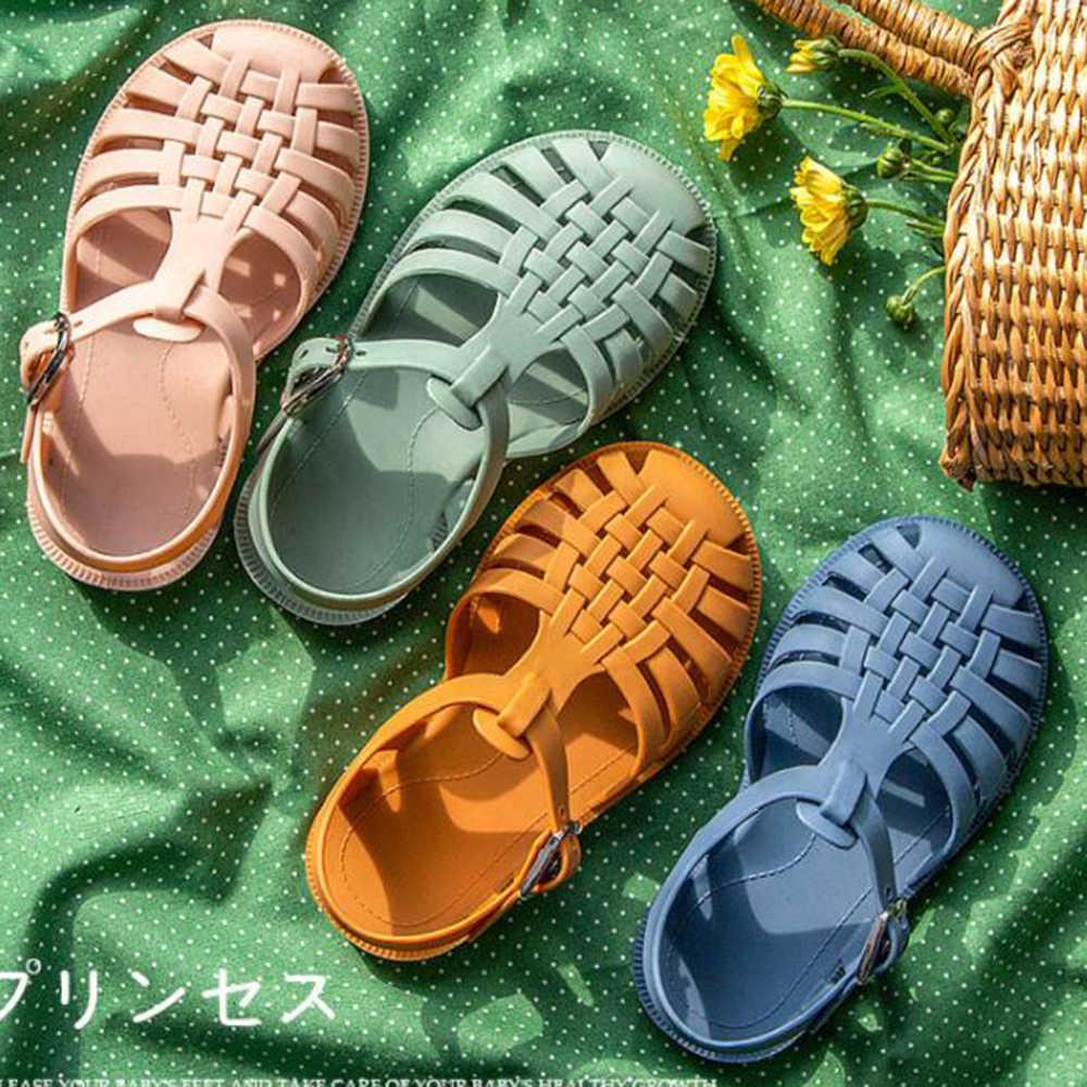Children Boys Girl Slip On Summer Beach Sandals Flat Casual Slippers Jelly Shoes