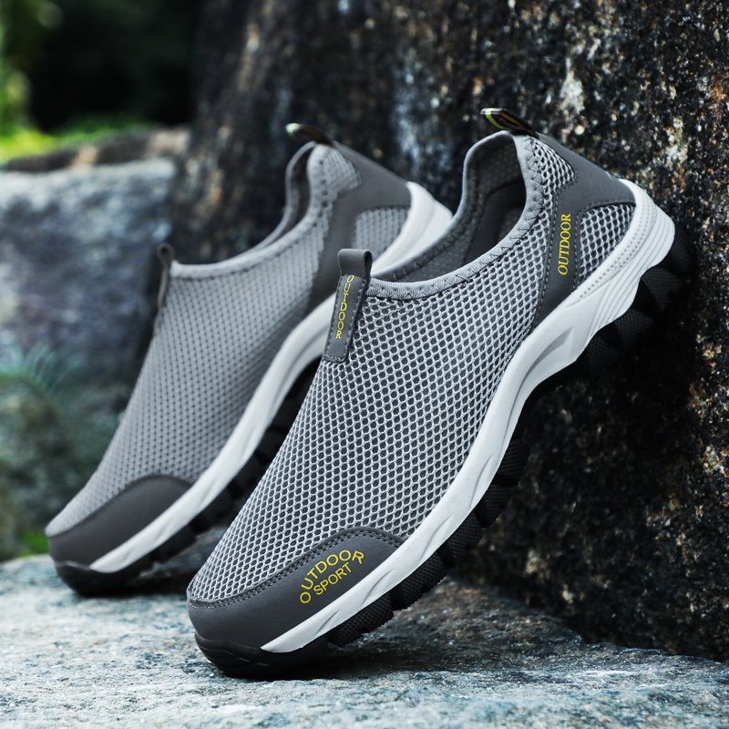 Newest Summer <font><b>Men</b></font> Casual <font><b>Shoes</b></font> Comfortable Breathable Mesh Flat Water Shose Hiking Stream <font><b>Sneakers</b></font> Non Slip Loafers Size 39-48 image