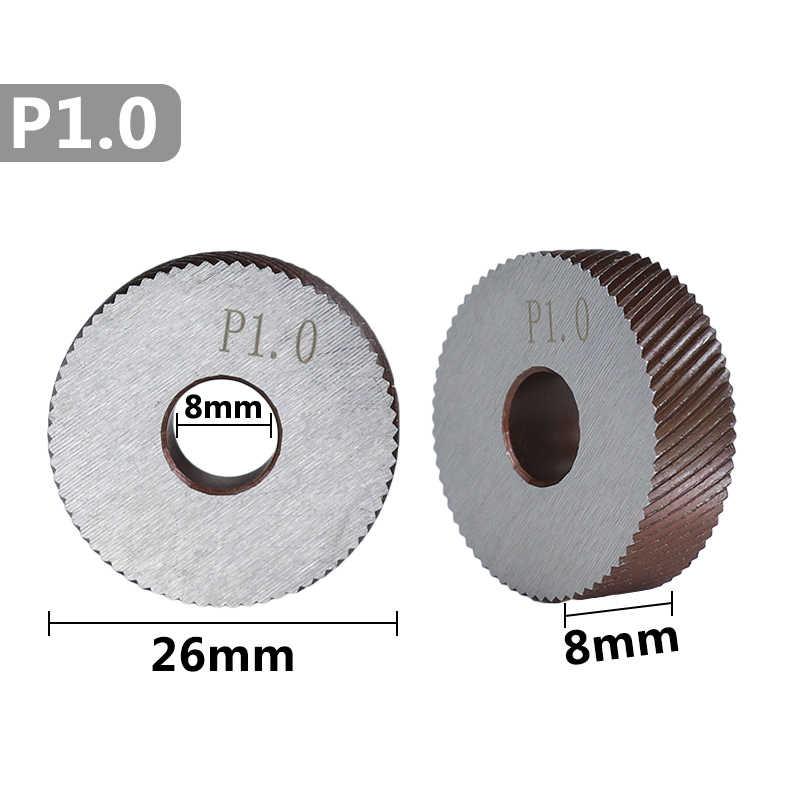 Xcan 2Pcs 1.0Mm Anti Slip Hss Diagonaal Grof Opruwen Wiel Diameter 26Mm Voor Metalen Draaibank Wiel Opruwen gereedschap