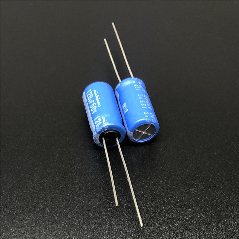 10pcs 120uF 50V NICHICON BT Series 8x16mm Highly Dependable Reliability 50V120uF Aluminum Electrolytic Capacitor