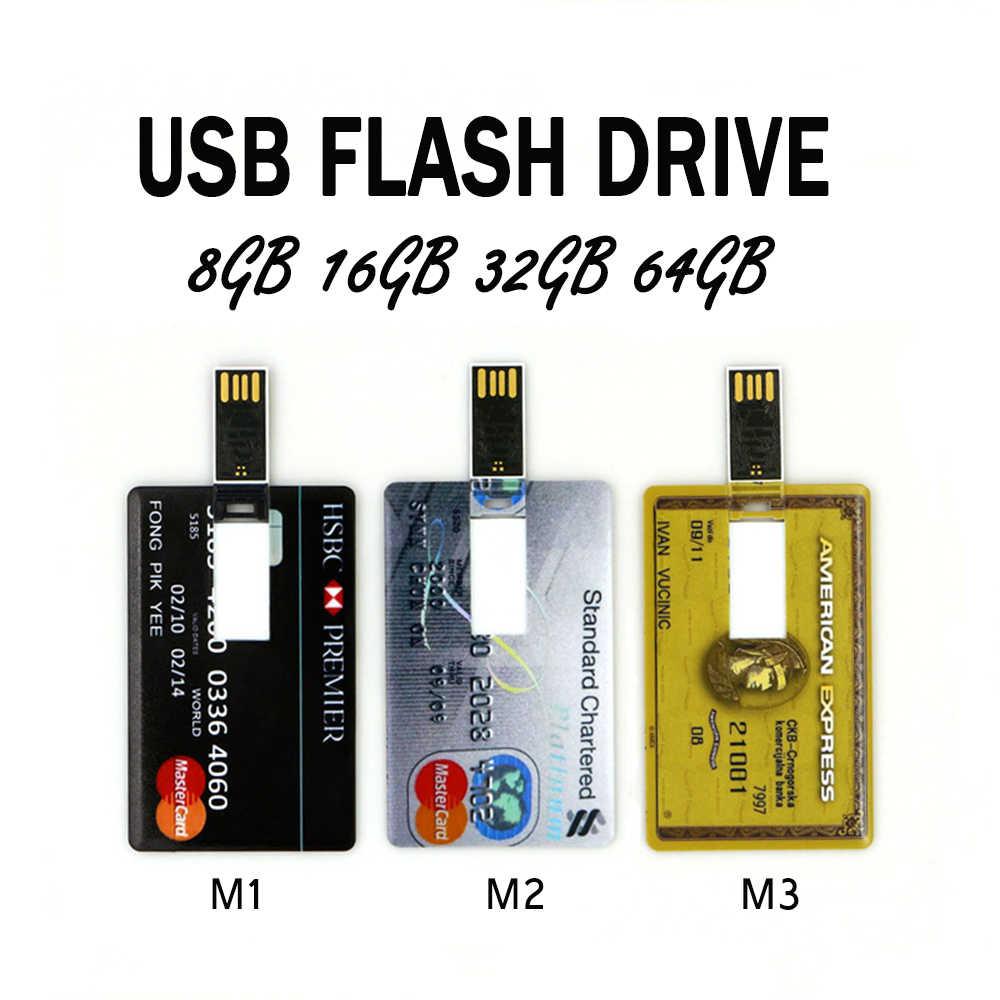 جديد محرك فلاش USB 4 جيجابايت 8 جيجابايت 16 جيجابايت 32 جيجابايت 64 جيجابايت البنك كول الائتمان VIP بطاقة فلاش ميموري للتخزين Usb عصا 2.0 بندريف فلاش حملة