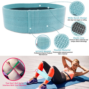 Image 5 - Booty Builder Hip Resistance Bands Set Fabric Non Slip for Fitness Yoga Pilates Legs and Butt Glute Workout Stretching Training