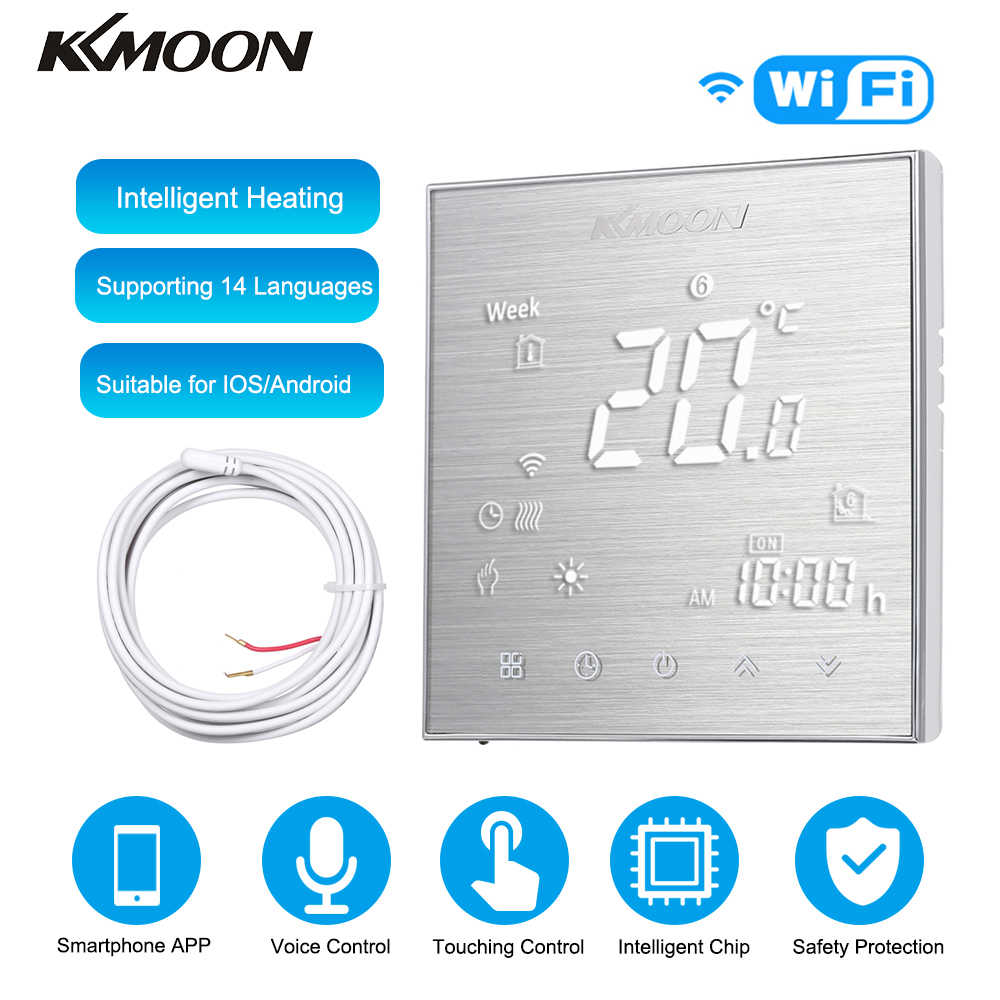 KKmoon Thermostate Digitale Wasser/Gas Kessel Heizung Thermostat WiFi Voice Control Touch screen Home Zimmer Temperatur Controller