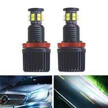 2pcs 120W H8 LED Angel Eye Halo Ring Light Auto Lighting 6000K For BMW E82 E87 E88 E90 E91 E92 E93 E60 E61 E63 E64 E84 X1 E70 X5 h8 20wx2 led angel eye halo light marker for bmw e60 e61 e63 e64 e70 x5 e71 x6 e82 e87 e89 z4 e90 e91 e92 e93