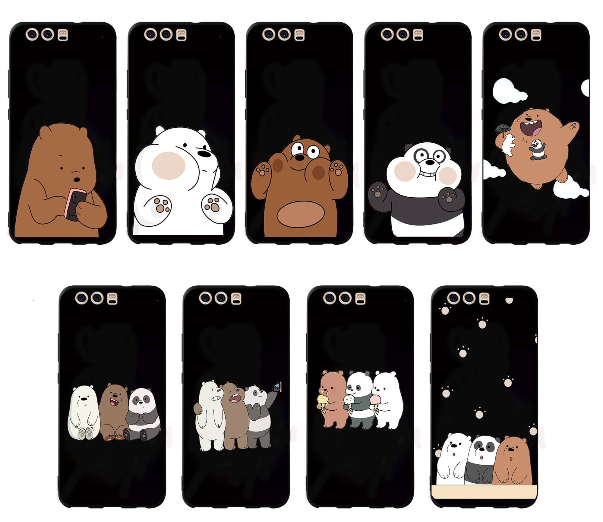 Cute Cartoon Bear Silicone Back Cover For <font><b>Huawei</b></font> P9 P10 Plus <font><b>P20</b></font> Lite <font><b>Pro</b></font> P <font><b>SmartPhone</b></font> Case For <font><b>Huawei</b></font> P8 P9 P10 <font><b>P20</b></font> Lite 2017 image