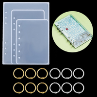 Resina de silicona del molde para cuaderno DIY cubierta de cristal de Moldes de resina epoxi rellenar papeles anillos regalo creativo de la fundición de resina moldes