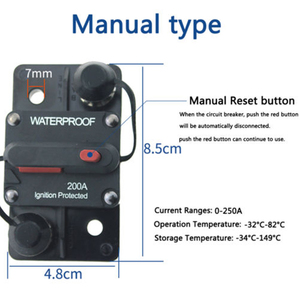 Image 3 - Solar DC Switch 30 300A 12 42V Inverter Circuit Breaker 30A Fuse Reset Car Boat AMP Cicuit Earth Leakage Switch Breaker Fuse