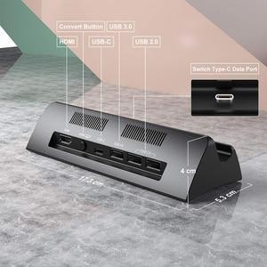 Image 3 - Vogek ניידת עבור Nintendo מתג עם סוג C כדי HDMI טלוויזיה מתאם USB 3.0 2.0 טעינת עגינה Playstand מטען