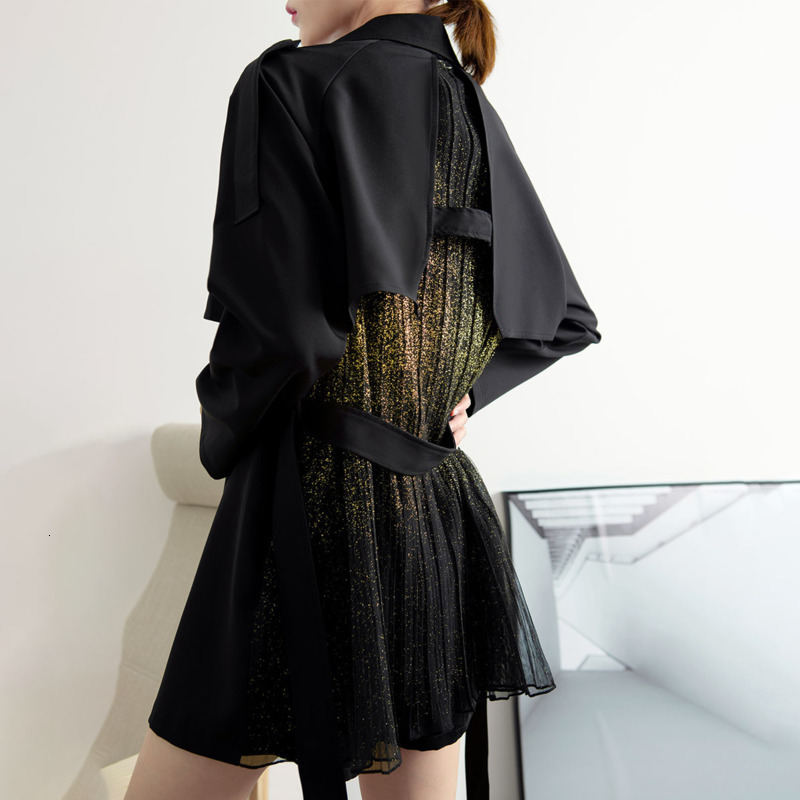 LANMREM 2020 Spring New Fashion Lapel Suit Short Jacket Female Loose Drape Temperament Lace Waist Coat PB397