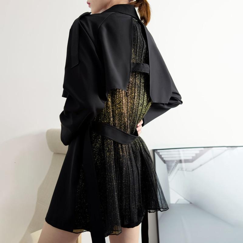 LANMREM 2020 Spring New Fashion Lapel Suit Short Jacket Female Loose Drape Temperament Lace Waist Coat PB397