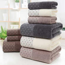 Cotton Bath Towels Set For Bathroom 2 Hand Face Towels 1 Bath Towel For Adults White Dark Blue Coffee Terry Washcloth Towels