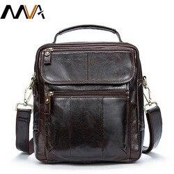 MVA الرجال حقيبة كتف للرجال الرجال حقيبة جلدية أصلية الذكور حقيبة ساع الموضة الصغيرة حقائب كروسبودي حقائب يد جلدية 8870