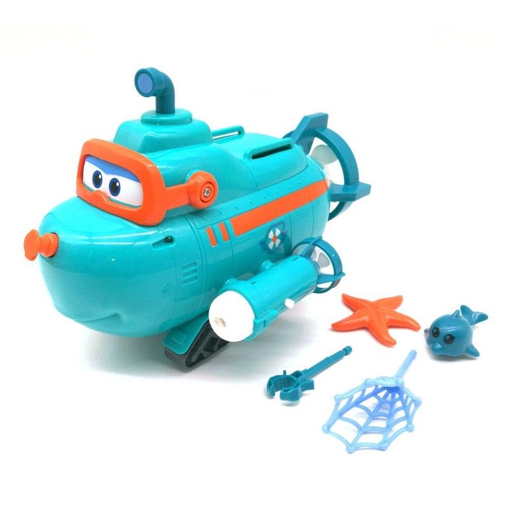 Nouvelle saison Super ailes bateau sous-marin de Willy avec musique sonore lumière déformation Action figurine ensemble Simulation modèle cadeau jouets