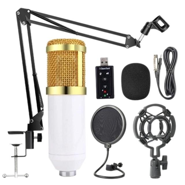 Bm800 profesyonel süspansiyon mikrofon kiti stüdyo canlı akışı yayın kayıt kondenser mikrofon seti