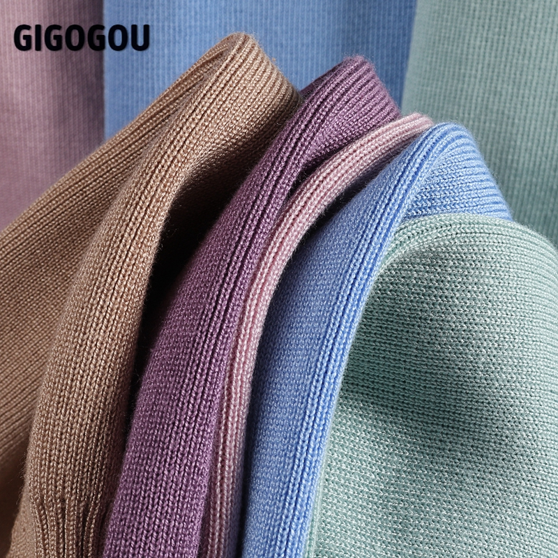 GIGOGOU – ensemble Chic 3 pièces pour femmes, Costume tricoté, couleur unie, Cardigan, pantalon de jogging, débardeur sans manches 3