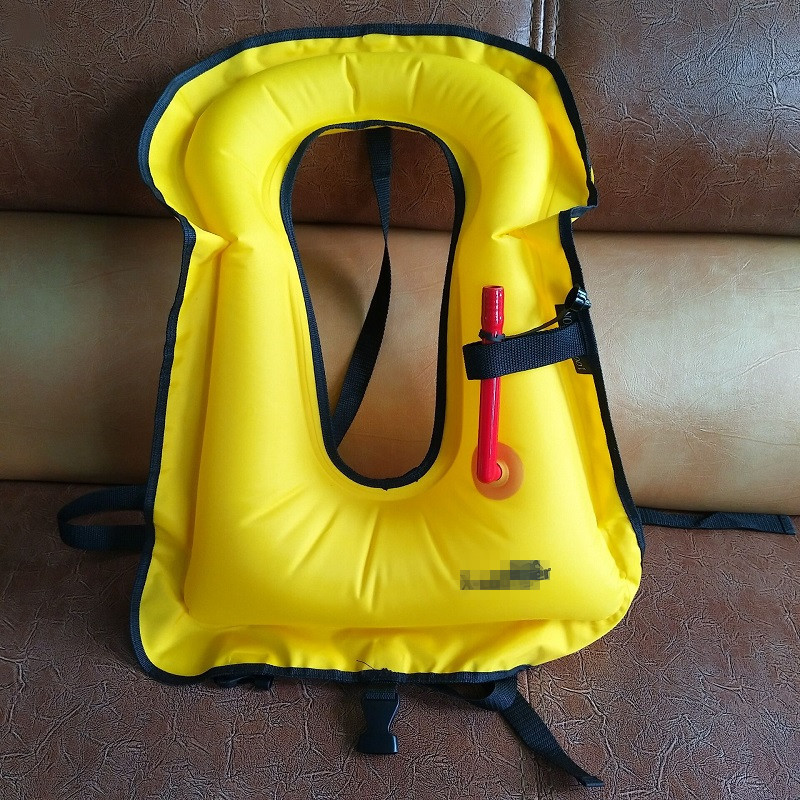 Strength Factory Currently Available Made Yellow TPU Life Jacket, Red Vest Inflatable Bathing Suit, TPU Diving Vest