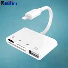 Adapter USB Reilim OTG do czytnika kart micro SD TF do iphonea 11 12 8 ipad do apple ios 14 13 konwerter