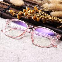 Frame-Eyewear Vintage Glasses Square Anti-Blue-Light Transparent Fashion Unisex WOENFEL