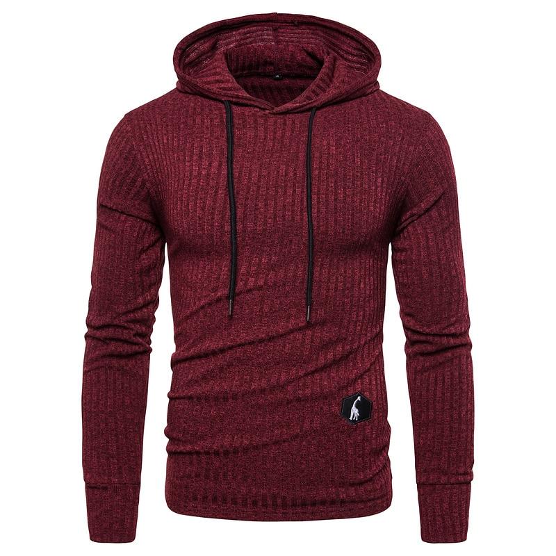 NEGIZBER 2019 New Autumn Winter Hoodies Men Solid Slim Fit Hooded Mens Sweatshirt Casual Soft Elasticity Pullover Men Streetwear