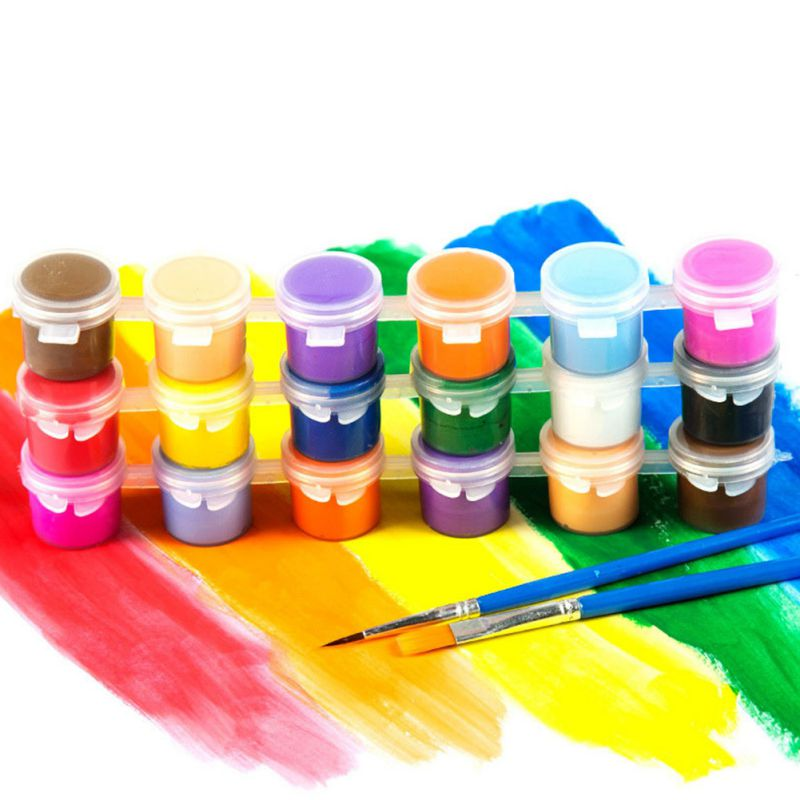 6/12 Colors Acrylic Paint DIY Handmade Painting Art Materials Wall Plaster Statue Graffiti Children's Painting